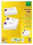 SIGEL DP839 Visitenkarten hochweiß, 150 Stück (15 Blatt), 85x55 mm,...