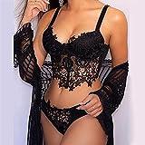 Dasongff Damen Spitzen Push Up BH Unterwäsche Dessous Sets Sexy...